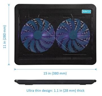 AVANTEK 17 Zoll Laptop Kühler Notebook Cooler Ständer Kühlpad Kühlmatte mit Dual 160mm Lüfter -