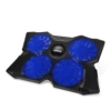 """[Bester Laptop-Kühlpad] AMNIE AE-CP1501 15,6"""" - 17"""" Laptop-Kühler - Vier leise 110 mm blaue LED-Lüfter mit 1.200 UPM, einfach tragbar und leicht (4 Lüfter) -"""